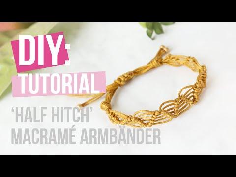 Schmuck machen: 'Half hitch' Macramé Armbänder ♡ DIY