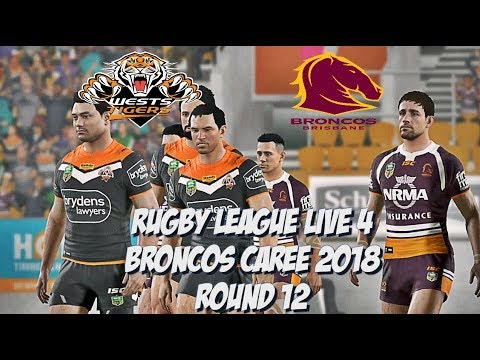 Rugby League Live 4 - Broncos Career (Round 12)