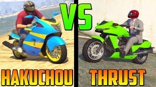 Hakuchou VS Thrust (Súper Velocidad) - Test de Velocidad - La Moto Mas Rápida de GTA 5 Online 1.17
