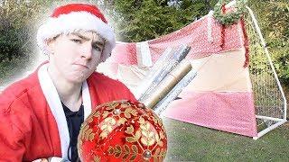 FOOTBALL vs. CHRISTMAS WRAPPED GOAL!!