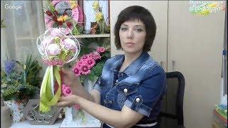 Ручной букет невесты с зефиром. Свит-дизайн.  Мастер Наталья Дроздова