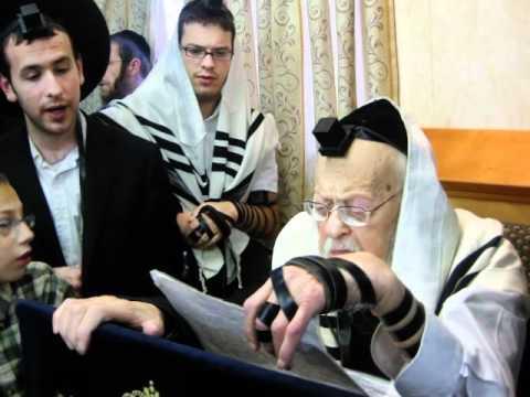 הרב אלישיב וידאו נדיר ביותר-הצצה לסדר יומו