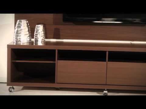 Manhattan Comfort: Cabrini TV Stand + Cabrini Panel (Brown)