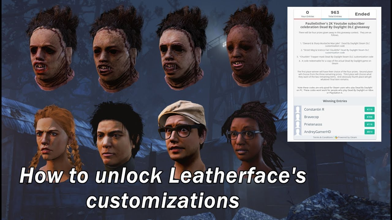 DBD| Unlocking faces & DLC contest winners announced!