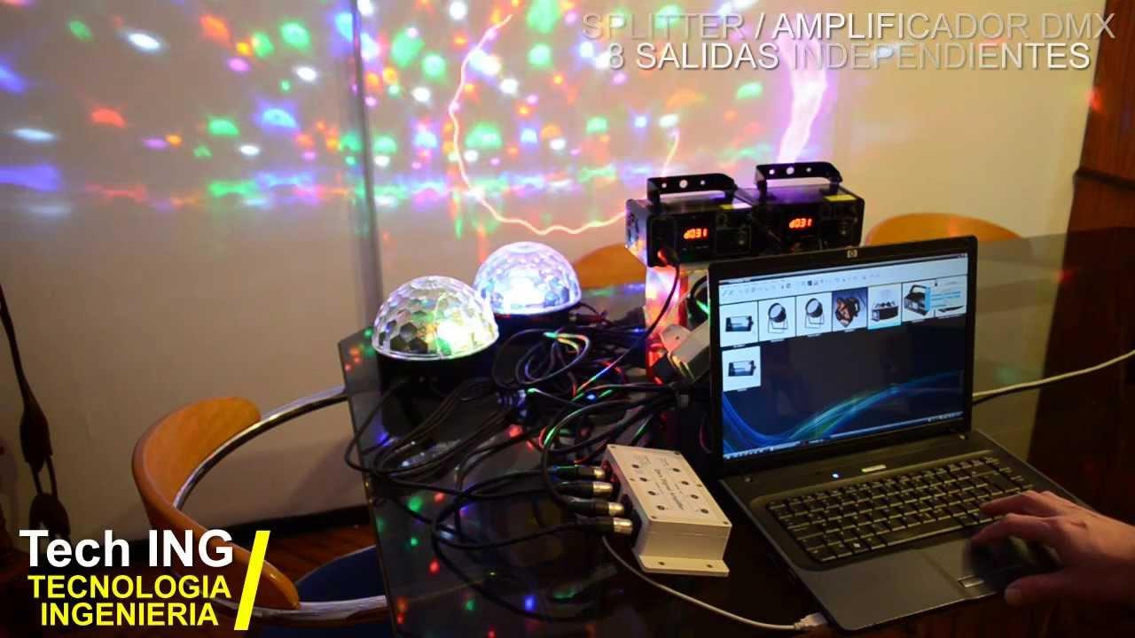 Splitter Amplificador Dmx De 8 Salidas Tech Ing