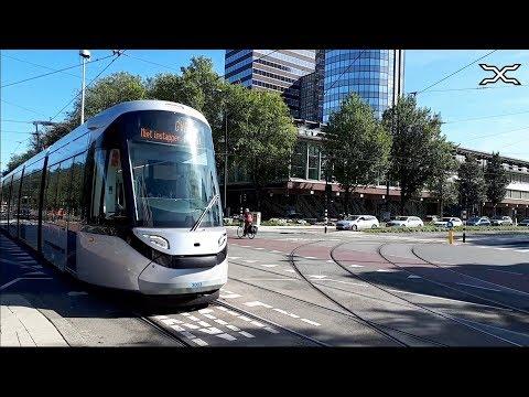 Nieuwe Tram Amsterdam | Testrit Overdag | GVB 15G R-net CAF Urbos 100