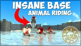 *NEW UPDATE* INSANE BASE BUILD + ANIMAL RIDING! ROBLOX: Booga Booga