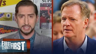 Roger Goodell stepped up in ways I didn't expect him to - Nick Wright | NFL | FIRST THINGS FIRST
