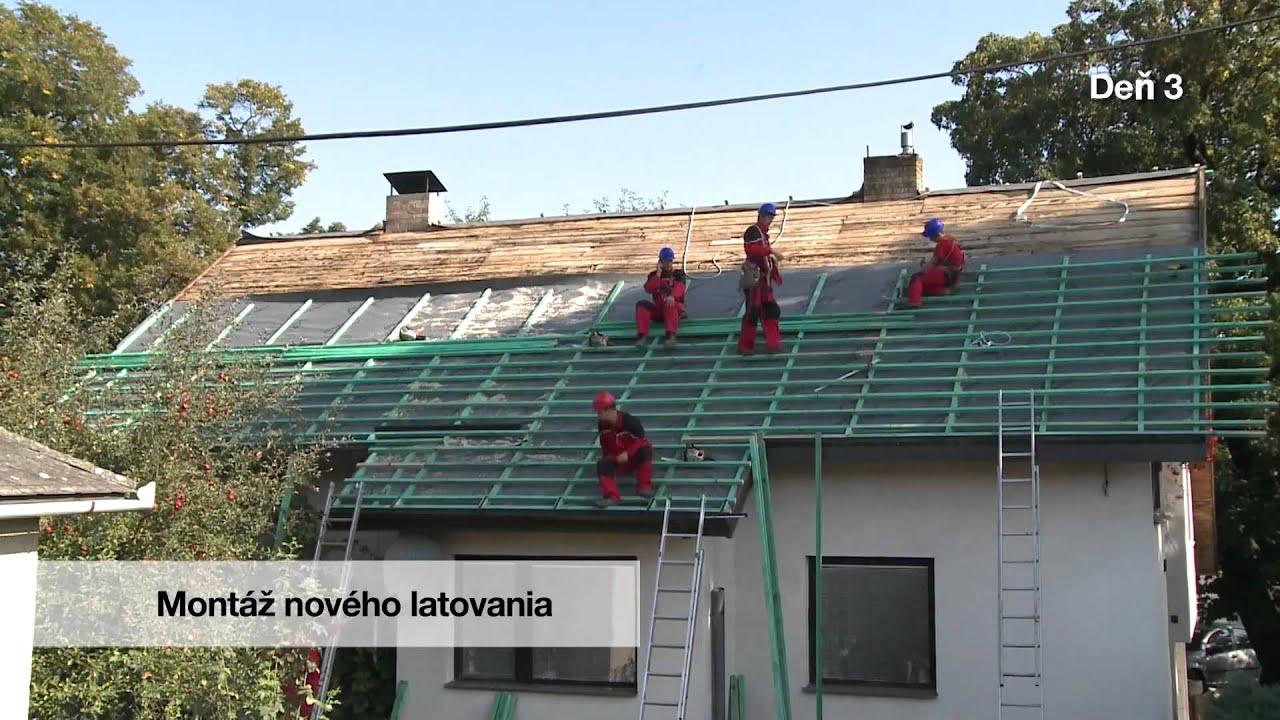 Plechová střecha postup