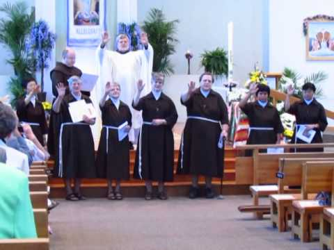 Poor Clare Sisters sing the Blessing of St. Clare
