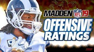 Madden 19 Offensive Player Ratings Breakdown