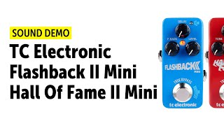 TC Electronic Flashback II Mini & Hall Of Fame II MINI - Sound Demo (no talking)