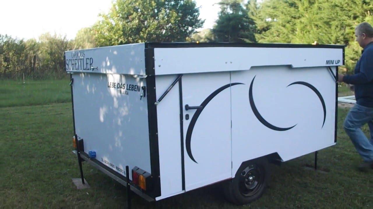 Casa rodante plegable mini up caravans scheitler youtube for Casa rodante para parrilla