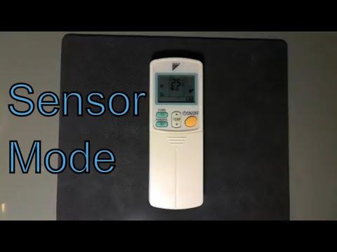 How Sensor Button Work Daikin Ac Remote Intelligent Eye Operation Youtube