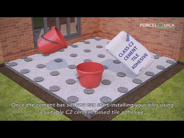 How To Install Porcelain Paving Using The PorcelQuick Adped System
