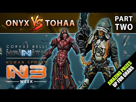 Infinity: Human Sphere N3 Week - Battle Report Part Two (Onyx Contact Force Vs Tohaa)