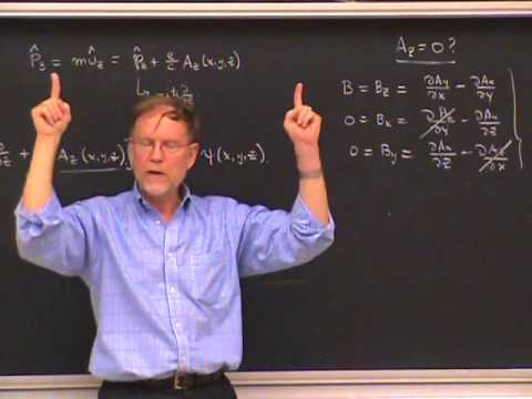 PHYS 221A 2010:10:05   Lec 17   Charged Particles in Magnetic Fields II  Energy Eingefunctions