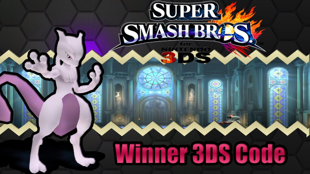 mewtwo code giveaway super smash bros 3ds winner mewtwo code giveaway youtube 4016