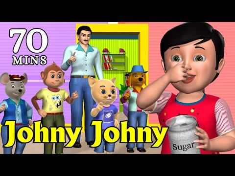 Thumbnail: Johny Johny Yes Papa Nursery Rhyme - Kids' Songs - 3D Animation English Rhymes For Children