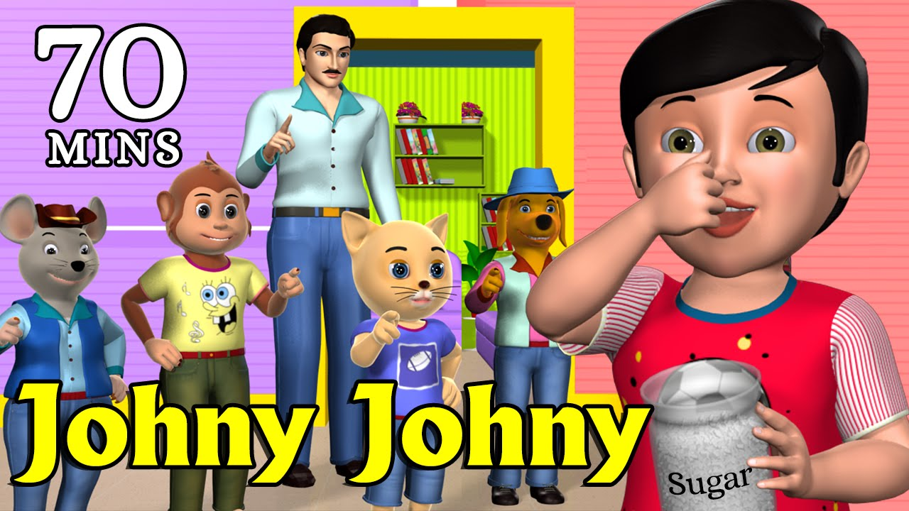 Johny Yes Papa Nursery Rhyme Kids Songs Animation English Rhymes For Children You