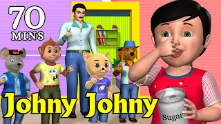 Repeat youtube video Johny Johny Yes Papa Nursery Rhyme - Kids' Songs - 3D Animation English Rhymes For Children