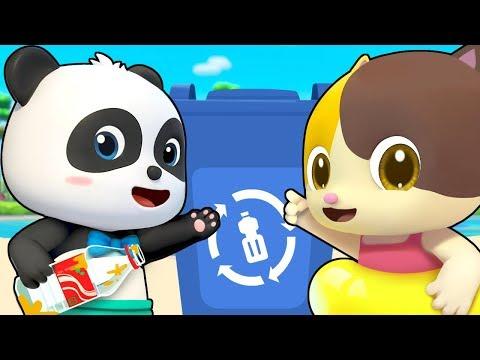 Clean Up Trash Song | Beach Song | Nursery Rhymes | Kids Songs | Kids Cartoon | BabyBus