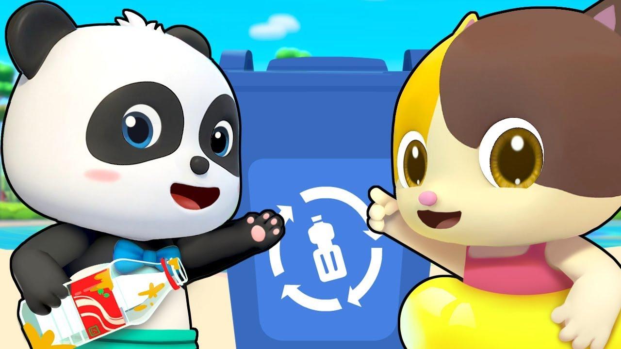 Clean Up Trash Song   Beach Song   Nursery Rhymes   Kids Songs   Kids Cartoon   BabyBus