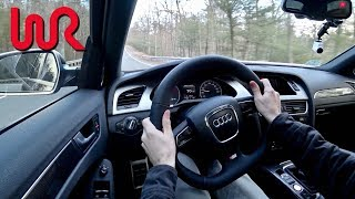 2011 Audi S4 APR Stage 2 Manual-  Tedward POV Test Drive (Binaural Audio)