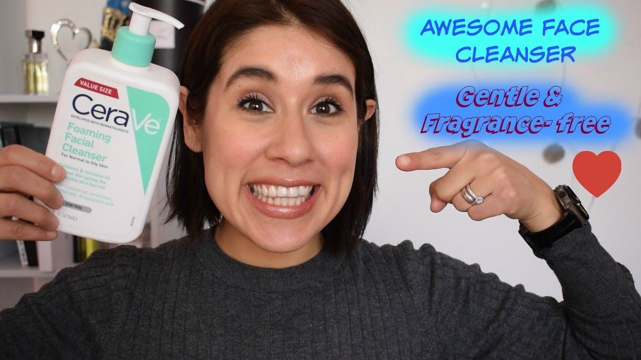 review sữa rửa mặt cerave foaming cleanser