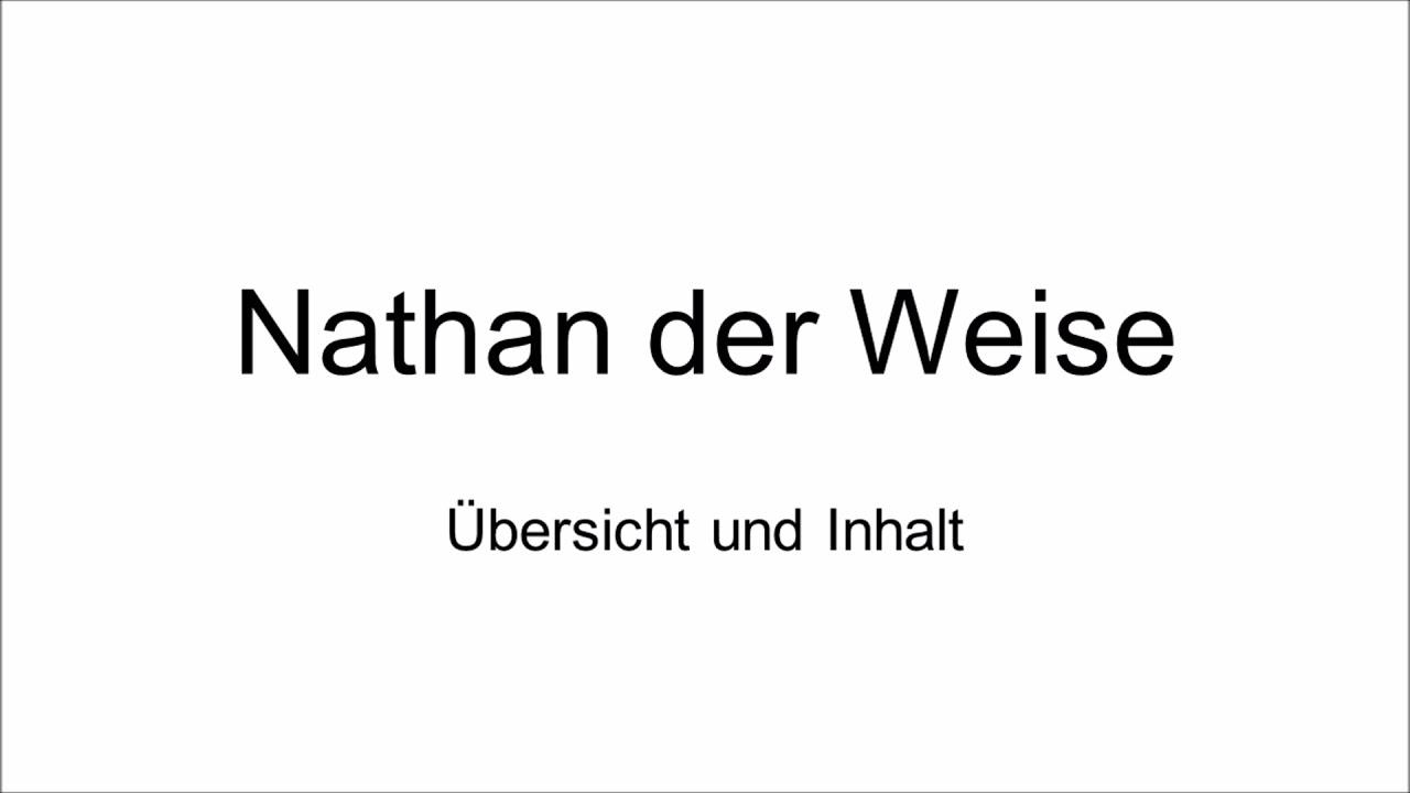 Gotthold Ephraim Lessing: Nathan der Weise - Übersicht und Inhalt ...