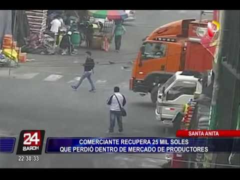 Comerciante recupera 25 mil soles que perdió en Mercado de Productores