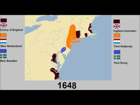 Colonization of America - Map