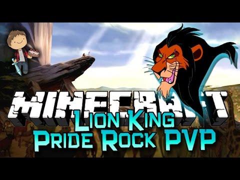Minecraft: LION KING PRIDE ROCK CHALLENGE! w/Bajan Canadian & Friends!