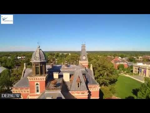 Aerialworks - Beautiful Drone Shot of DePauw University - in Ultra High Definition 4k