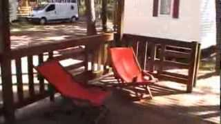 location mobil home cottage camping l'oceane landes