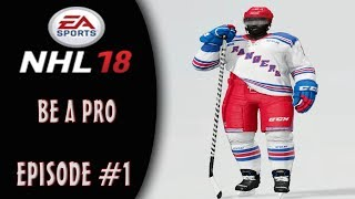 NHL 18: Be A Pro Career | The Creation Of Samad Moses | Episode #1