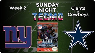 Sunday Night Tecmo   NY Giants at Dallas Cowboys   NFL Week 2   Tecmo Super Bowl LIII [2019]