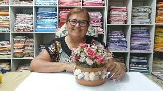 Aprenda a Decorar Cachepô – Com Flores e Conchas