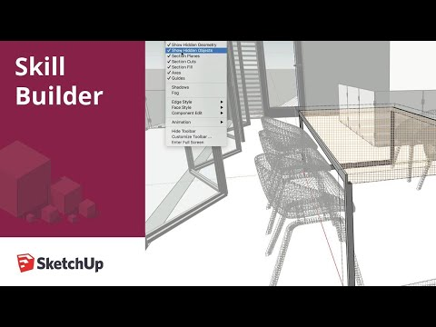 Hidden Geometry vs Objects in SketchUp Pro 2020 - Skill Builder