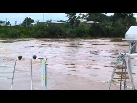 Johnstone River, Innisfail, flowing quickly 20/3/2012
