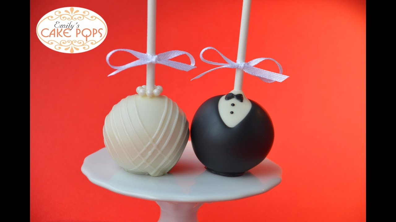 Red Wedding Cake Pops