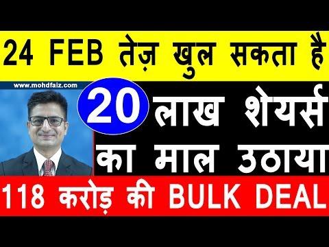 24 FEB तेज़ खुल सकता है   Latest Stock Market Tips In Hindi   Latest Share Market News Today In Hindi