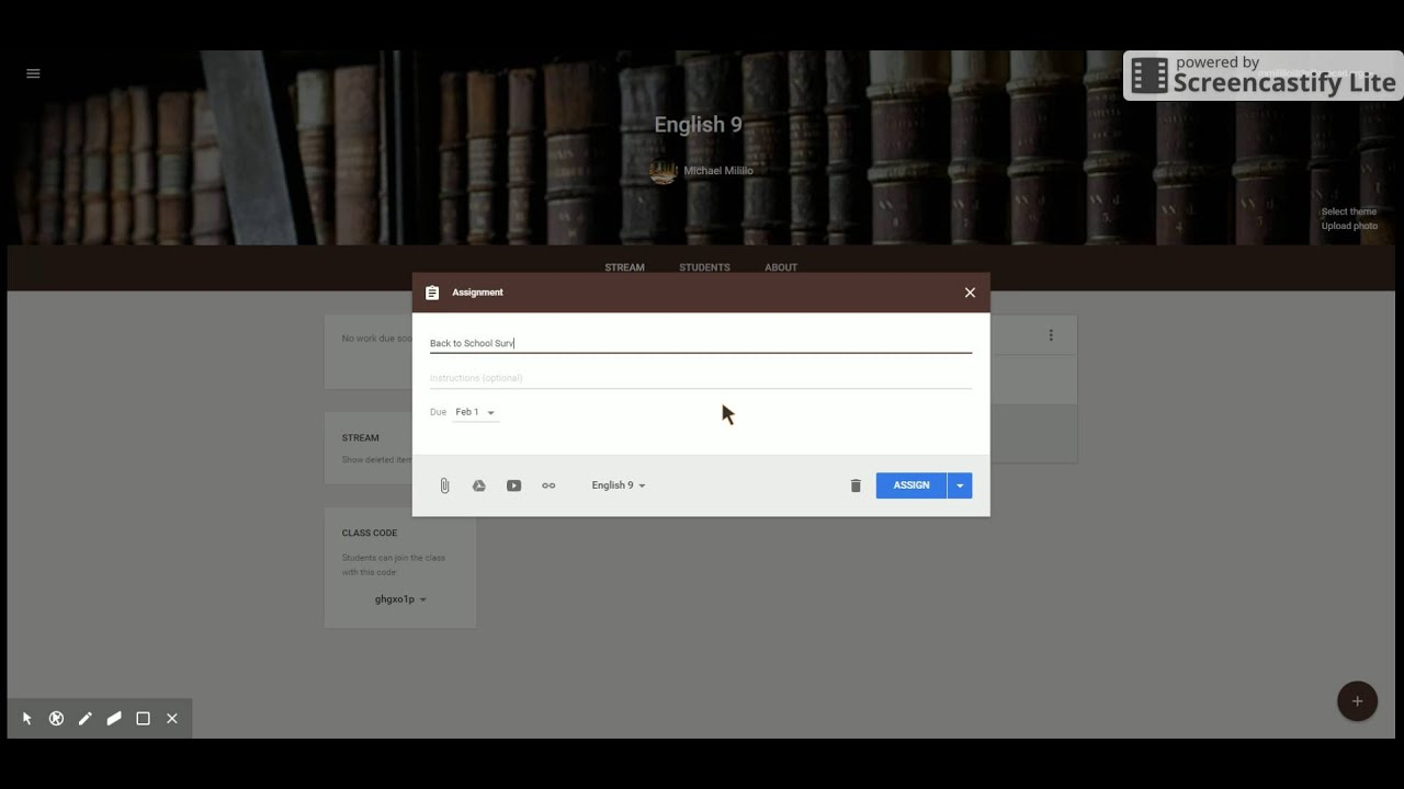 Google Classroom and Forms Survey - YouTube