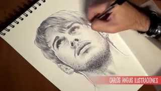 How to draw Mark Foster (Como dibujar a Mark Foster)