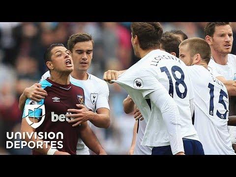 Gol de Chicharito Hernández frente al Tottenham, pero West Ham se hunde en la Premier