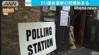 欧州議会選挙始まる 反EU勢力が議席伸ばすか(19/05/24)