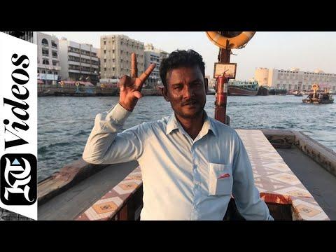 Sheikh Mohammed takes an abra ride across Dubai Creek