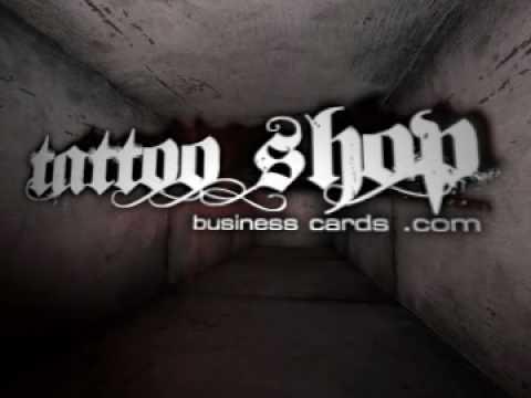 Tattoo Shop Business Cards Youtube Logo Animation Youtube