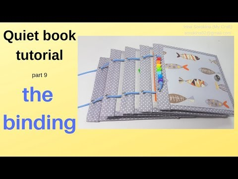 Quiet book tutorial #9 How to bind a quiet book