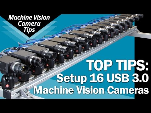 Setup 16 USB 3.0 Cameras: Tips for bandwidth, power & triggering